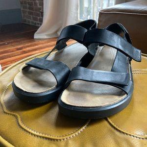 Ecco Black Corksphere Sandal Size 13